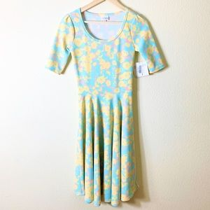 NWT LuLaRoe Nicole Dress Pastel Spring Floral